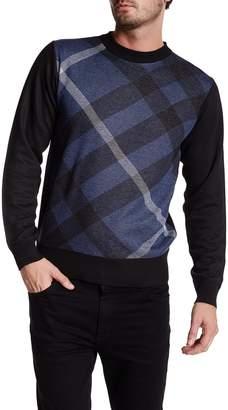 Yoki Diagonal Plaid Pullover Sweater