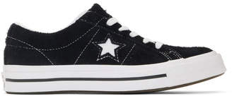 Converse Black and White Vintage Suede One Star Sneakers