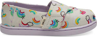 Toms White Jumping Rainbows Tiny Classics