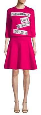 Love Moschino Graphic A-Line Dress