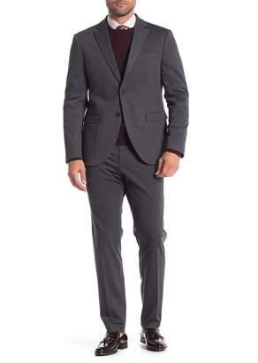 14th & Union Fine Gauge Solid Two Button Notch Lapel Extra Trim Suit