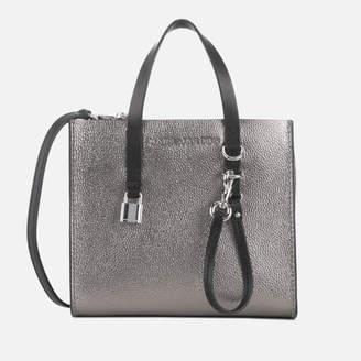 At Mybag Marc Jacobs Women S Mini Grind Tote Bag Mercury
