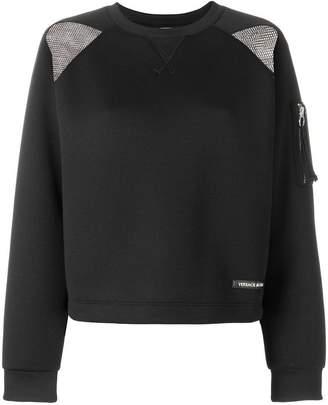 Versace perforated detail sweatshirt