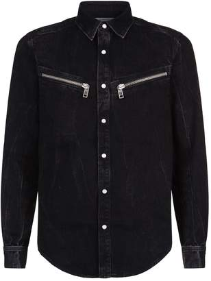 Givenchy Distressed Denim Shirt