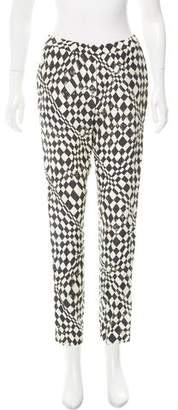 Clements Ribeiro Silk Mid-Rise Pants