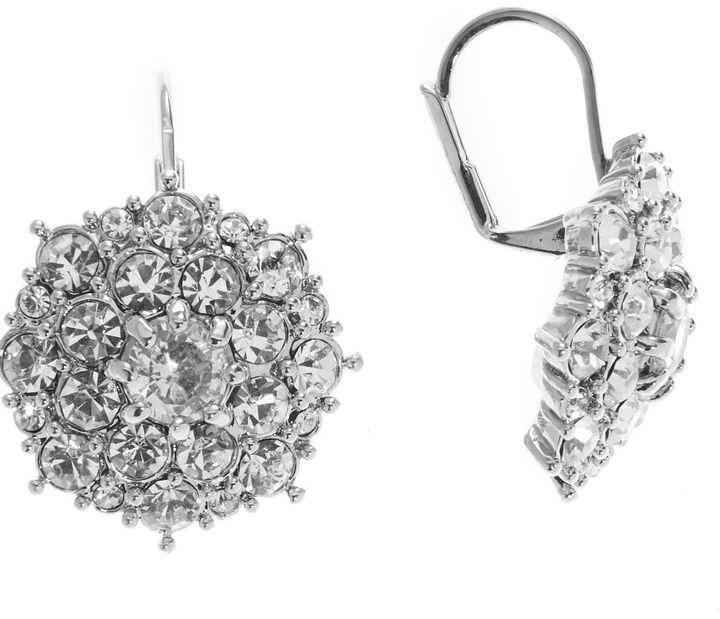 Dillard's crystal collection cz starburst earrings