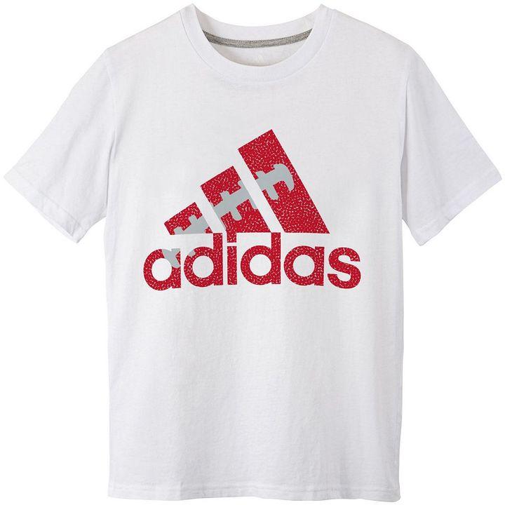 adidas football logo tee - boys 8-20