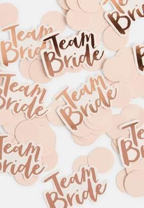 Missguided Rose Gold Team Bride Confetti
