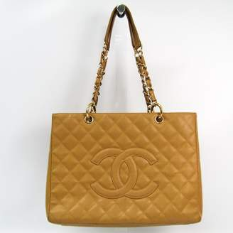 Chanel Beige Quilted Caviar Grand Shopping Tote GST (SHA-14297)