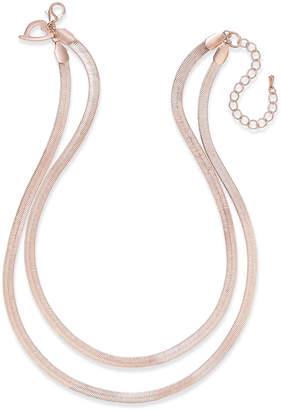 Thalia Sodi Herringbone Double Chain Necklace