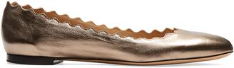 CHLOÉ Lauren scallop-edged leather flats $515 thestylecure.com