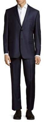 Saks Fifth Avenue Slim Fit Herringbone Wool Suit