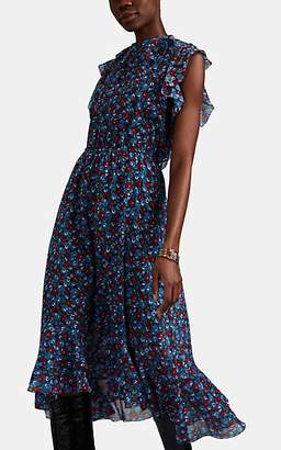 Robert Rodriguez Women's Juli Floral Cotton-Silk Dress - Blue