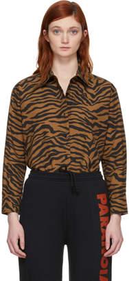 Ashley Williams Brown and Black Tiger Reba Shirt