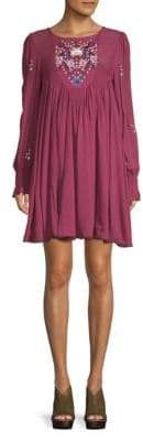 Free People Embroidered Shift Dress