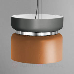 LED-Pendellampe Aspen S grau-mango 40 cm