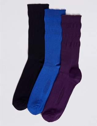 Marks and Spencer 3 Pack Freshfeet Gentle Grip Socks