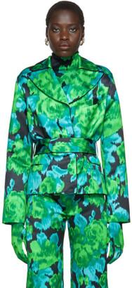 Richard Quinn Green Floral Blazer