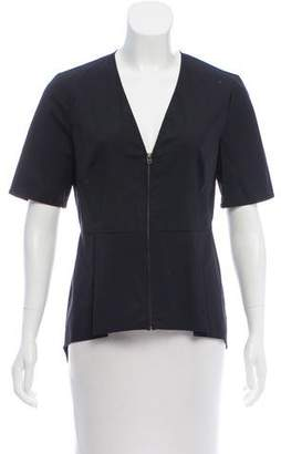 Veronica Beard Zip-Up Peplum Top