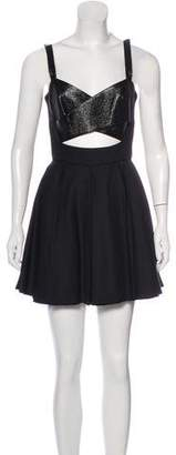 The Kooples Crossover Mini Dress