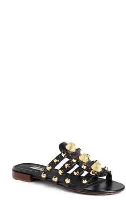 Women's Balenciaga Arena Studded Slip-On Sandal $665 thestylecure.com