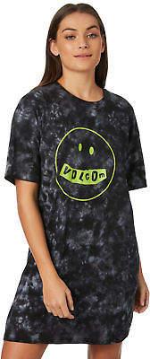 Volcom New Women's Mood Good Dress Cotton Black