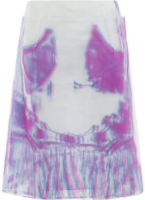 Maison Margiela psychedelic print tulle skirt