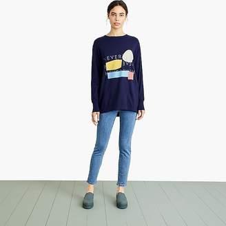 Nevereven logo print skater T-shirt