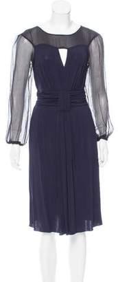 Philosophy di Alberta Ferretti Silk-Accented Midi Dress