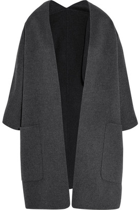 Vince - Reversible Wool And Cashmere-blend Cardigan - Gray $790 thestylecure.com