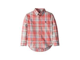 Polo Ralph Lauren Plaid Cotton Poplin Shirt (Toddler)