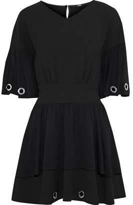 Maje Eyelet-Embellished Crepe Mini Dress