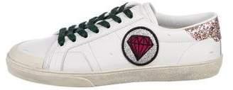 Saint Laurent Signature Court Classic Leather Sneakers
