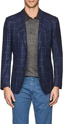 Canali Men's Capri Plaid Wool-Silk Two-Button Sportcoat