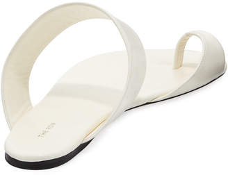 The Row Infradito Flat Leather Toe-Strap Slide Sandals