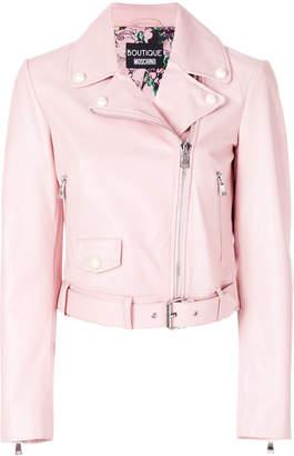 Moschino fitted biker jacket