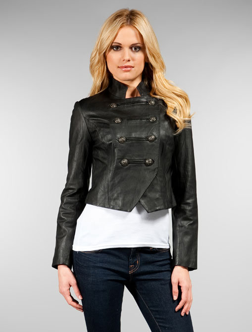 Dolce Vita Eden Leather Military Jacket