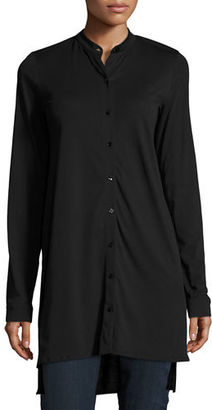 Eileen Fisher Easy Jersey Button-Front Tunic $158 thestylecure.com