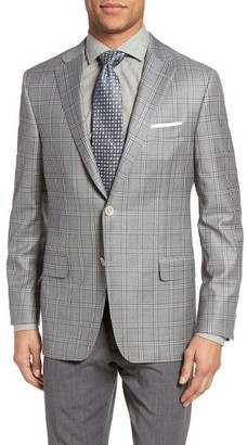 Men's Hickey Freeman Beacon Classic Fit Plaid Wool Sport Coat $1,295 thestylecure.com