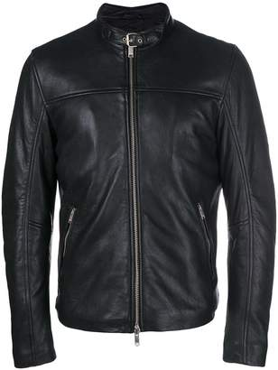 Dondup leather racer jacket
