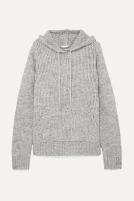 Helmut Lang Ghost Mélange Knitted Hoodie - Gray