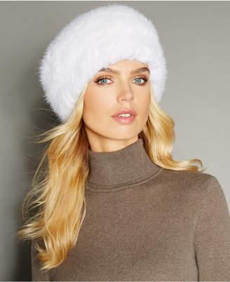 The Fur Vault Knitted Mink Fur Hat