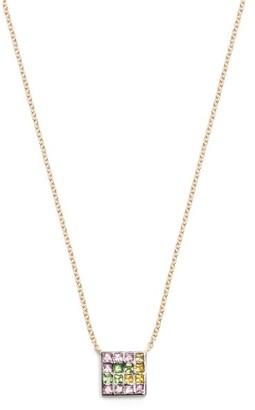Ileana Makri Sapphire, Amethyst, Tsavorite & Gold Necklace - Womens - Yellow Gold