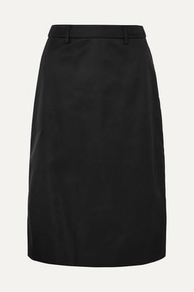 Prada Appliquéd Nylon Midi Skirt - Black