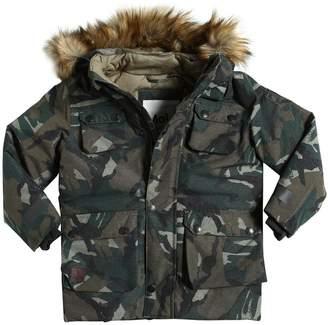 Molo 迷彩柄 フード付きナイロンスキージャケット