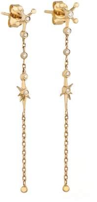 Celine Daoust Diamond Constellation Chain Drop Earrings