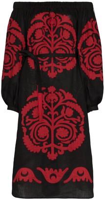Palladium Vita Kin off-shoulder embroidered dress
