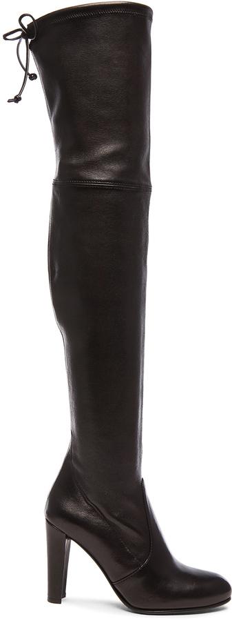 Stuart Weitzman Stretch Leather Highland Boots