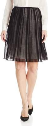 Nic+Zoe NIC & ZOE Nic + Zoe Womens Pintuck Knee Length A-Line Skirt Black