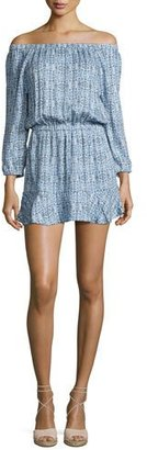 Soft Joie Sarnie Blouson Mini Dress, Blue $188 thestylecure.com